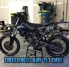 Yamaha Jeske YZ125 YZ250 2T Graphics Decals Kit Black 2013 2014 2015 2016 2017