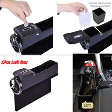 1x Car Left Seat Catcher Organizer Storage Coin Box Side Pocket With Cup Hoder