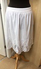 Bnwt White Cotton Beautiful Summer Skirt Size 12