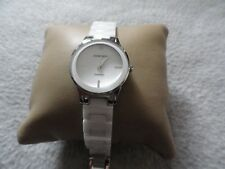 Ladies Armitron Diamond Quartz Watch - White with a White Band