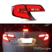 VLAND Clear Tail light For 2012-2014 Toyota Sedan Camry W/ LED Red Lamp