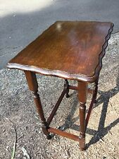 Antique Vintage Australian Art Deco 1930's English Oak Side Lamp Lounge Table