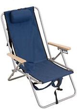 Rio Gear Original Steel Backpack Chair Navy Blue