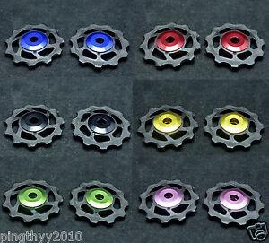 J&L 11T Ceramic Derailleur Pulley*2 For Campagnolo Super Record/Chorus/Potenza