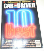 Car And Driver Magazine 10 Best Issue 6th Annual January 1988 080814R