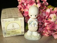 """Precious Moments Easter """"Wishing You A Basket Full of Blessings"""" 109924 w/Box"""