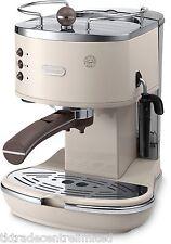 Delonghi ECOV311.BG Vintage Icona Pump Espresso Cappuccino Coffee  Machine Cream
