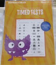 Addition Subtraction Timed Test Gr. 1-2 Teaching Tree Reproducibles 38 Pack Math