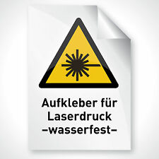 100 WEISS GLÄNZEND Aufkleber Schriftzug Folie Motiv drucken Laserdrucker DIN A4