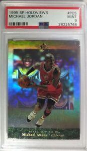 1995 SP Holoview Michael Jordan Premium Collection #PC5, Rare Hologram, PSA 9 !$