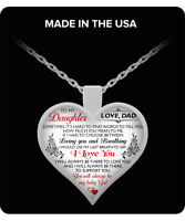 Father And Daughter Pendant - To My Daughter Heart Necklace Gifts From Daddy's