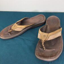 Used Columbia Colorado Bend Nubuck Omni-Grip Techlite Flip Flop Mens sz US 13