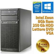 PC COMPUTER DESKTOP FISSO RICONDIZIONATO HP QUAD CORE XEON RAM 8GB 250GB WIN 10