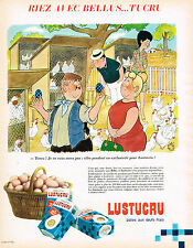 PUBLICITE ADVERTISING 124  1966  LUSTUCRU   pates   RIEZ avec BELLUS