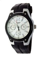 NEW Casio Men's watch MTR-301 Black Band White Face 3 Eye 50M Water Resistant