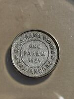 1945-46 (ME1121) India Princely States Travancore 1 Fanam Graded VF35 by ANACS!