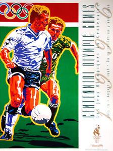 Atlanta 1996 Olympics SOCCER (FOOTBALL) Official Original Event POSTER