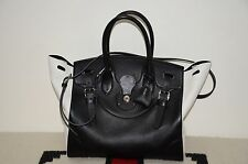 Ralph Lauren Collection Made in Italy 2 Tone Leather Soft Ricky Handbag Bag