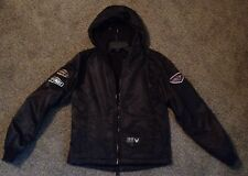"""Genuine Harley Davidson Women's Black Hooded """"NO CAGES"""" Motorcycle Jacket SMALL"""