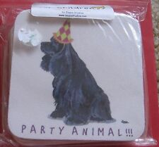 Cocker Spaniel Dog Party Animal Beer Coasters Set of 4 New - Drink Coaster