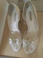 Benjamin Adams Jewelled Ivory Wedding Bridal Shoes Size 6 RRP£139