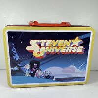 Steven Universe TV Cartoon Network Carry All Tin Tote Lunchbox RARE Aquarius