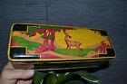 Belle boîte à biscuits ancienne en tôle peinte style Art Déco