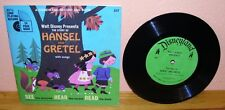33T Livre-Disque HANSEL and GRETEL  EP 1967 - vinyl - Disneyland Record and Book