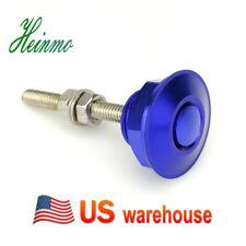 1 X Universal Push Button Billet Hood Pin Lock Clip Kit Car Quick Latch Blue NEW