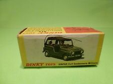 DINKY TOYS 815 EMPTY BOX for SINPAR 4x4 GENDARMERIE MILITAIRE - ONLY EMPTY BOX