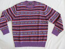 Bonobos Shetland Fair Isle Lambswool Crewneck Sweater-Purple/Multi-Size XL- NWT