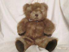 "Russ Berrie Brown Fur Teddy Bear Stuffed Animal  Plush Toy 13"" Machine Washable"
