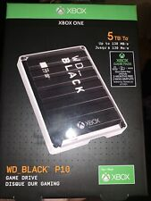 New ListingWd_Black 5Tb P10 Game Drive for Xbox One Usb 3.2 Gen 1 Wdba5G0050Bbk-Wesn - New