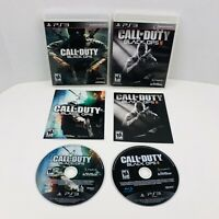 Call Of Duty Black Ops 1 And 2 PlayStation 3 PS3 Video Games Complete Lot Of 2