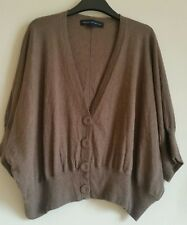 French Connection Ladies cropped  cardigan size L mink