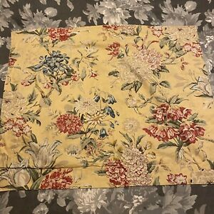 Set Of 2 Pottery Barn Elodie Standard Pillow Sham Floral Yellow Red