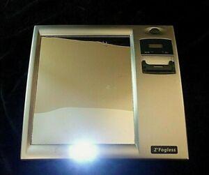 Z' FOGLESS WALL MOUNTED FOGLESS SHOWER MIRROR with LIGHT - Design # 4018/2001