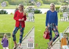 King Cole Ladies Double Knitting Pattern Raglan Sleeve Cardigan & Sweater 4931