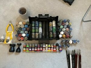 Large Job Lot Of Citadel Paints - All Useable Some New, Most At least 3/4 Full.