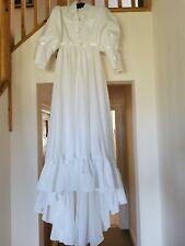 Woman's long White Wedding Dress