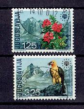 Jugoslawien o  MiNr 1406 - 1407 Europa Naturschutz Vögel