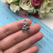 8pcs Baby Carriage Tibet silver Charms Pendants DIY Jewellery Making crafts