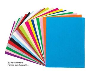 Bastelfilz, Filzplatten 20x30 cm / 2 mm dick - 20 versch. Farben von Meyco