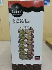 K-Cup Coffee Pod Spinning Carousel Rack Holds 42 Pods! New! Free Shipping!