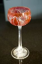 Beautiful Vintage Bohemian Flash Cranberry Wine Hock