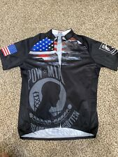 Cycling Jersey Pow Mia Medium Full Zip