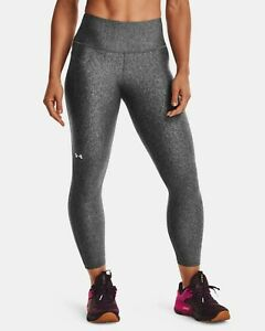 Under Armour HeatGear No-Slip Waistband Ankle Leggings Women's Grey Sportswear