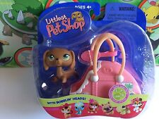 Littlest Pet Shop Set Pack #139 Dachshund dog puppy carry travel case 2005 Toy