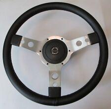 """New 14"""" Vinyl Steering Wheel & Hub Adaptor Sunbeam Alpine Tiger Polished Spokes"""