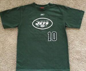 Chad Pennington New York Jets 10 Boys Reebok NFL Football TShirt NWOT Sz M 10/12